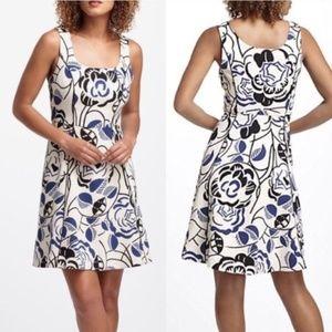 Anthro Vanessa and Virginia Ink Set Blooms Dress